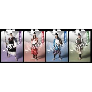 【真剣乱舞祭】ブロマイド 弁慶・義経・頼朝・泰衡 4枚セット×1種